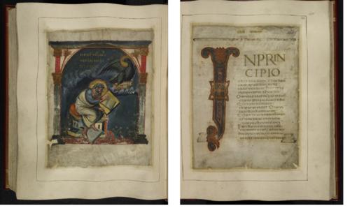 Cotton MS Tiberius A. ii, ff. 164v-165